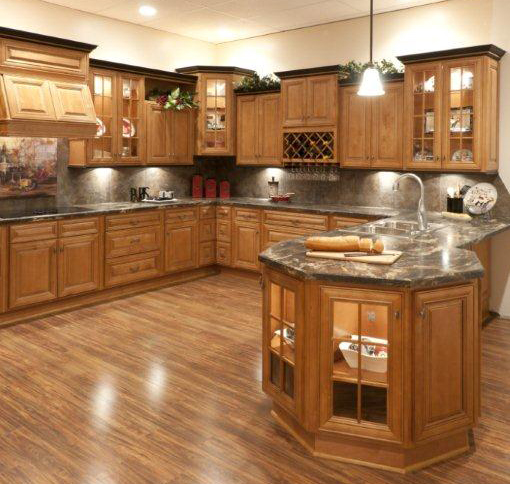 Discount Light Maple Cappuccino Wood Cabinets