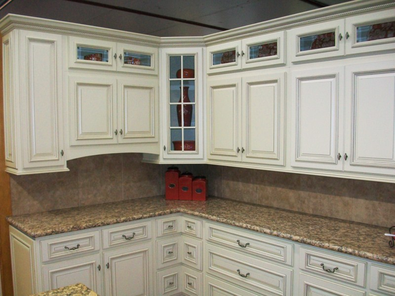 Ivory glazed best priced painted kitchen bathroom cabinets - How to glaze kitchen cabinets that are painted ...