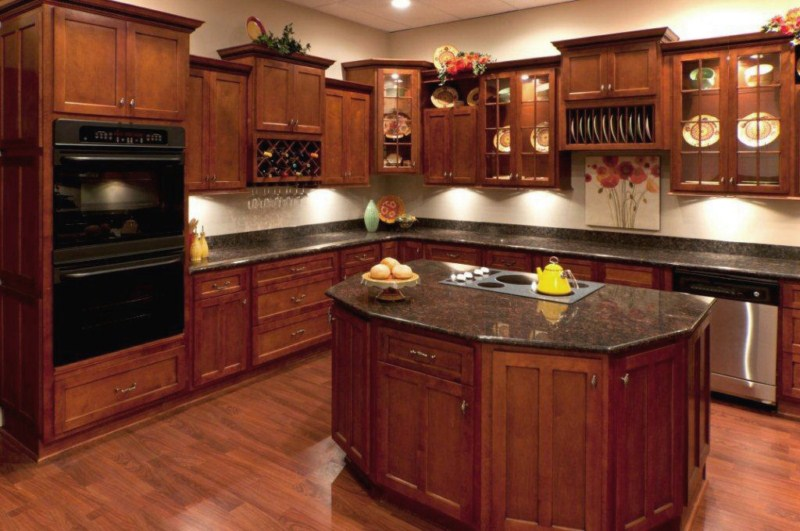natural cherry stain wood cabinets maple doors. Black Bedroom Furniture Sets. Home Design Ideas