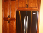 Pantries and Fridge Panels with Full Depth Wall Cabinet