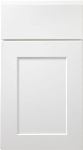 Cabinet Features A Modern Painted White Shaker Door Style White Shaker